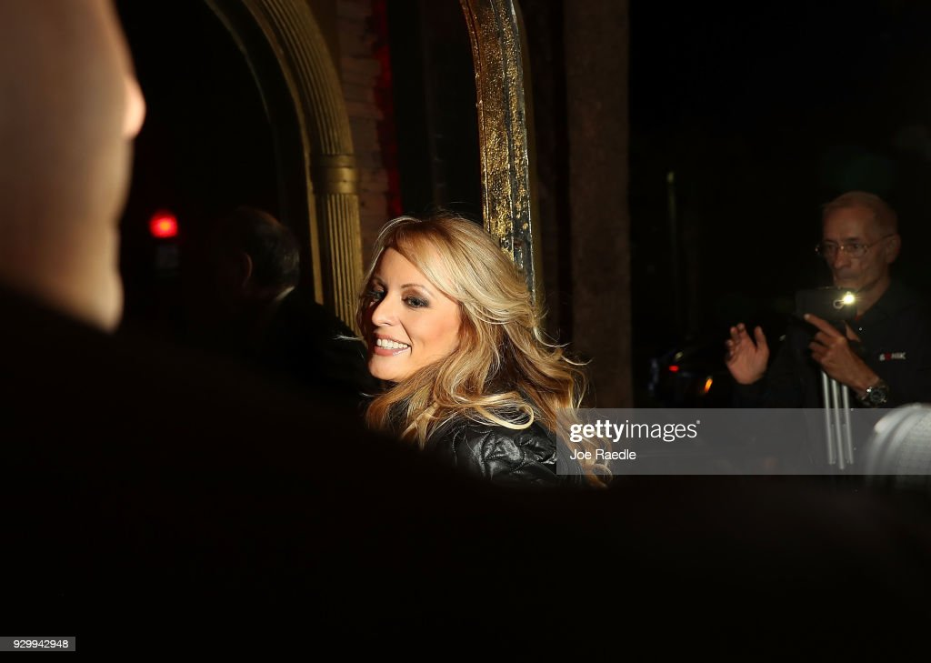 Pornographic Film Star Stormy Daniels, Who Alleges Affair With President Trump, Appears At Florida Strip Club : News Photo