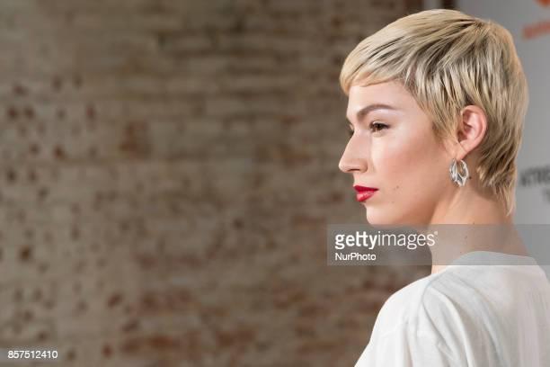 the actress Ursula Corbero attends the presentation of the series of Tv LA CASA DE PAPEL in Madrid October 4 2017