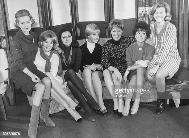 The actresses from the television show 'The Forsyte Saga' Ursula Howell Susan Hampshire Dallia Penn Nyree Dawn Porter Margaret Tyzack Lana Morris and...