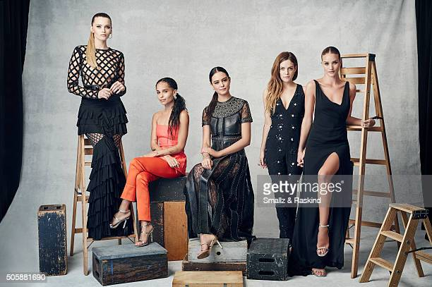 The Actresses of 'Mad Max Fury Road' Abbey Lee Zoe Kravtiz Courtney Easton Riley Keogh and Rosie HuntingtonWhiteley pose for a portrait during the...
