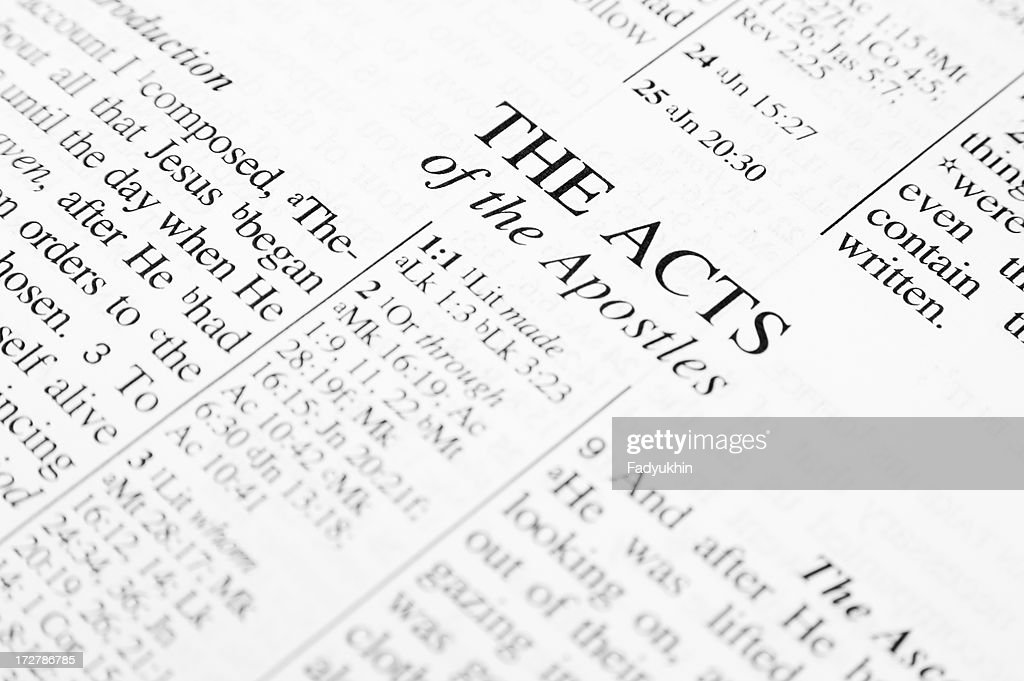 The Acts : Stock Photo