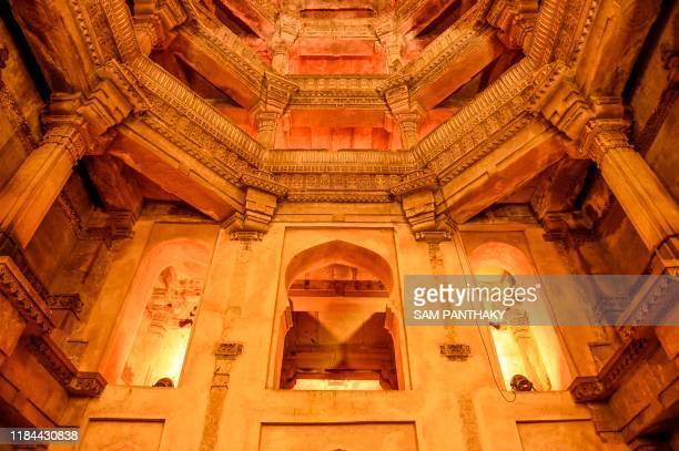The Adalaj-Ni-Vav ancient stepwell is being illuminated on the occasion of the 'Water Festival' organised by Craft of Art, an initiative to...