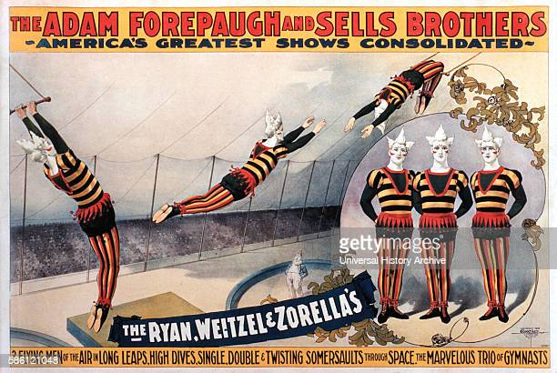 The Adam Forepaugh and Sells Brothers America's Greatest Shows Consolidated The Ryan Weitzel and Zorella's Circus Poster circa 1896