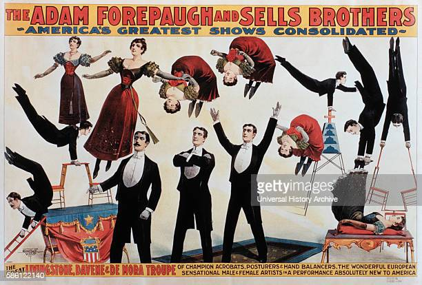 The Adam Forepaugh and Sells Brothers America's Greatest Shows Consolidated The Great Livingstone Davene and De Mora Troupe of Champion Acrobats...
