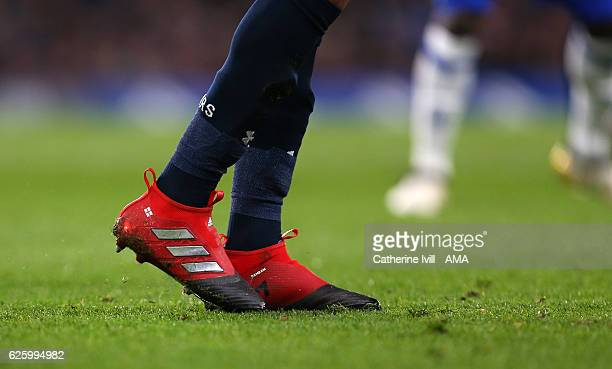 The Adidas Ace 17 boots of Dele Alli of Tottenham Hotspur during the Premier League match between Chelsea and Tottenham Hotspur at Stamford Bridge on...