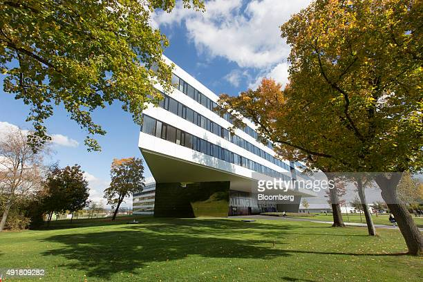 The Adidas AG headquarters stand in Herzogenaurach Germany on Thursday Oct 8 2015 Adidas said it hired a bank to analyze options for its flagging...