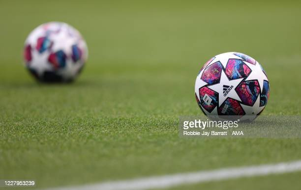 The Adidas Champions League final ball 2020 The Adidas Finale Istanbul during the UEFA Champions League round of 16 second leg match between...