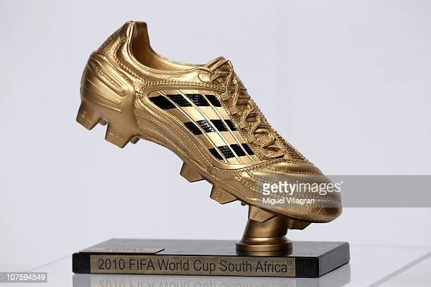 The adidas Golden Boot award is pictured during the FIFA 2010 World Cup adidas Golden Award ceremony at the adidas headquarters on December 14 2010...