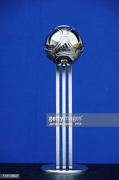 The Adidas Silver Ball award for the FIFA U20 World Cup is pictured at the Ritz Carlton on July 8 2013 in Istanbul Turkey