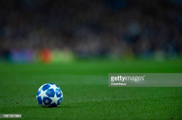 The adidas Star ball during the Group F match of the UEFA Champions League between Manchester City and FC Shakhtar Donetsk at Etihad Stadium on...