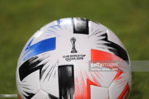 The Adidas Tsubasa FIFA World Club Cup 2019 match ball during the FIFA Club World Cup 2nd round match between Al Hilal and Esperance Sportive de...