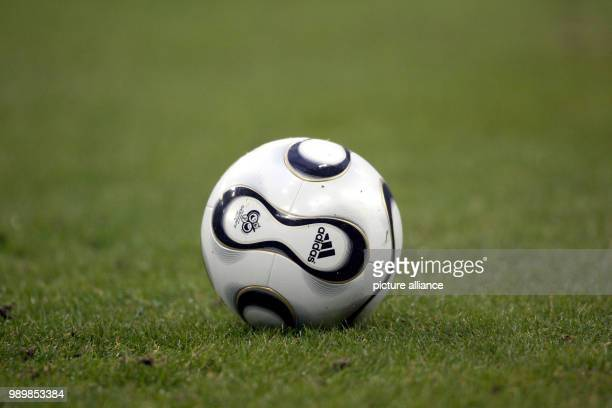 The adidas world cup football called Teamgeist picture taken on February 4th 2006 at the Veltins Arena in Gelsenkirchen FC Schalke 04 and Borussia...