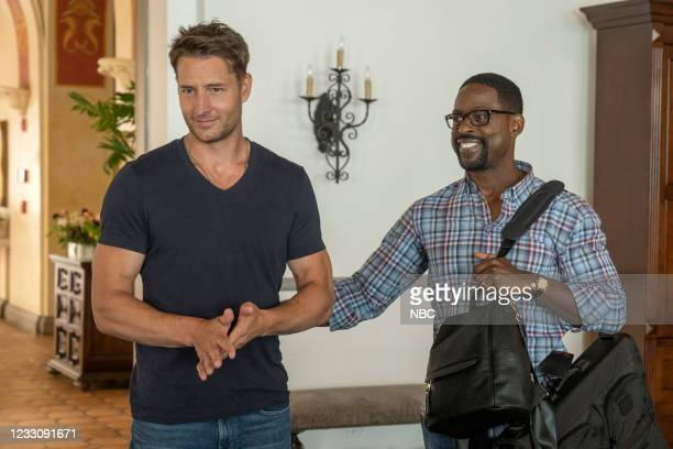 """The Adirondacks"""", Episode 516 -- Pictured: Justin Hartley as Kevin, Sterling K. Brown as Randall --"""
