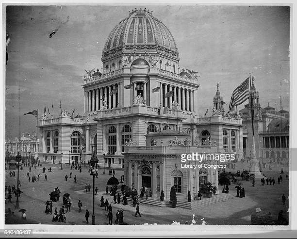 The Administration Building at the World's Columbian Exposition in Chicago Illinois ca 1893 | Location World's Columbian Exposition Chicago Illinois...