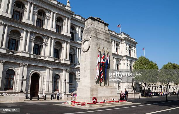 the admiralty and cenotaph, whitehall - cenotaph london stock pictures, royalty-free photos & images