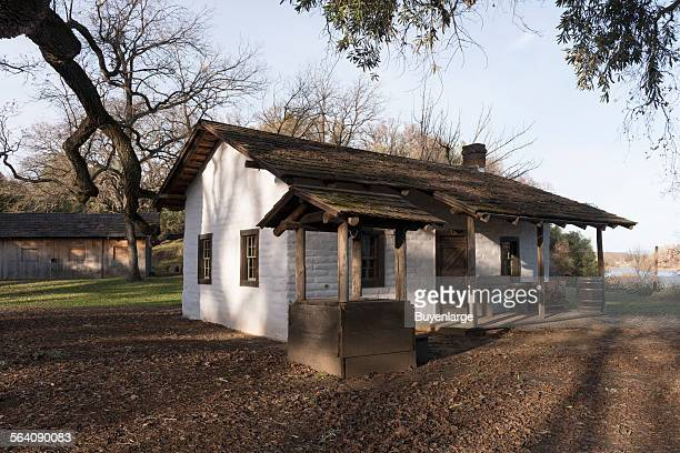 The adobe home of William Ide at the William B Ide Adobe State Historic Park in Red Bluff California