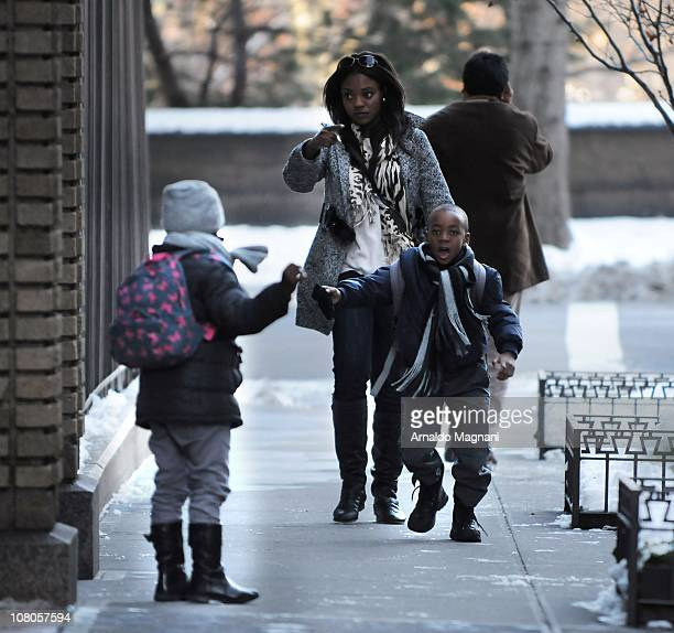 The adopted children of Madonna Mercy and David Banda are sighted on January 14 2011 in New York City