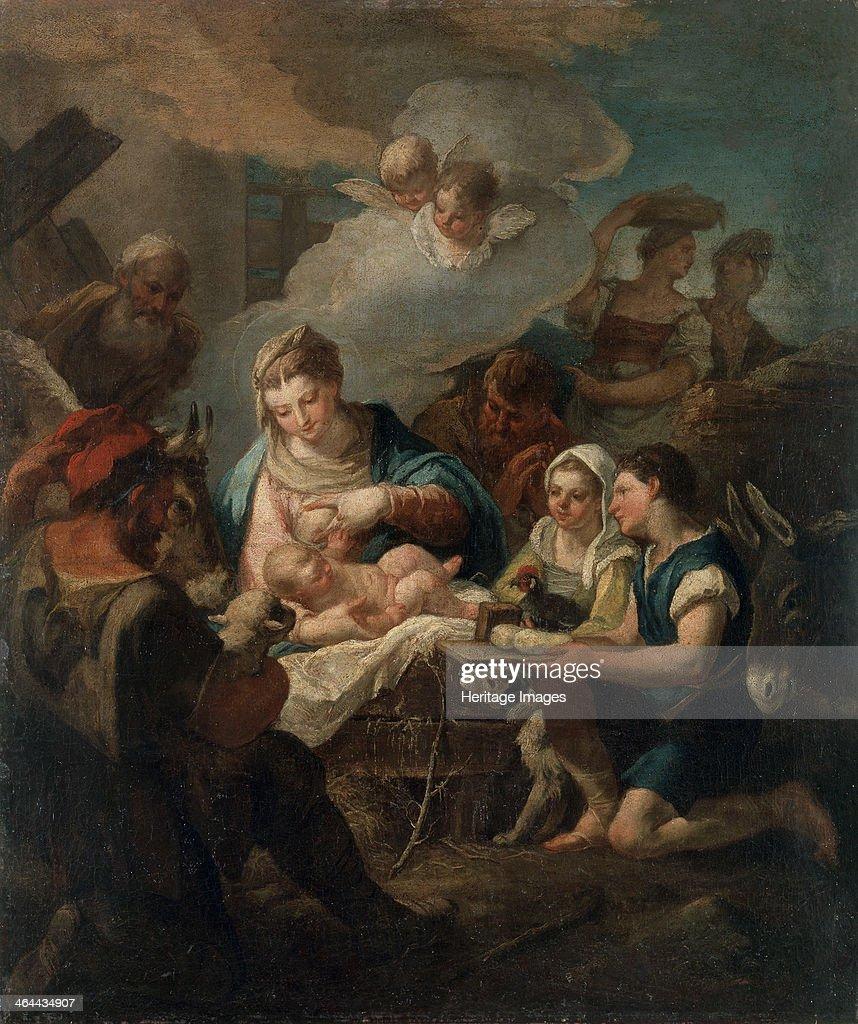 'The Adoration of the Christ Child', 18th century. Artist: Nicola Grassi : News Photo