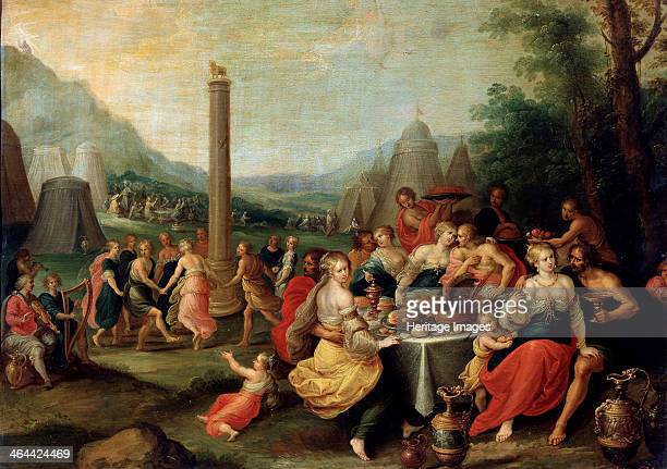 'The Adoration of the Golden Calf' late 1620s According to the Old Testament the Golden Calf was an idol made by Aaron for the Israelites while Moses...
