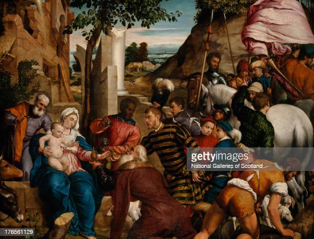 The Adoration of the Kings by Jacopo Bassano 1540 Oil on canvas