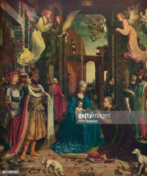 The Adoration of the Kings' circa 1510 Painting held at The National Portrait Gallery London From Bibby's Annual 1912 [J Bibby Sons Liverpool 1912]...