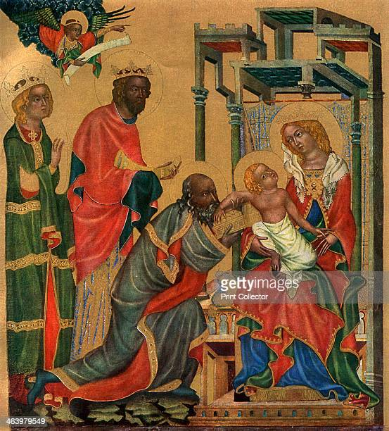 'The Adoration of the Magi' c1350 Tempera on wood Found in the collection of the National Gallery Prague A print from Gothic Painting in Bohemia...