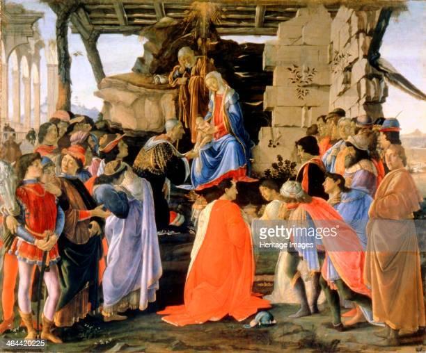 The Adoration of the Magi' c14731475 Botticelli Sandro Found in the collection of the Galleria degli Uffizi Florence
