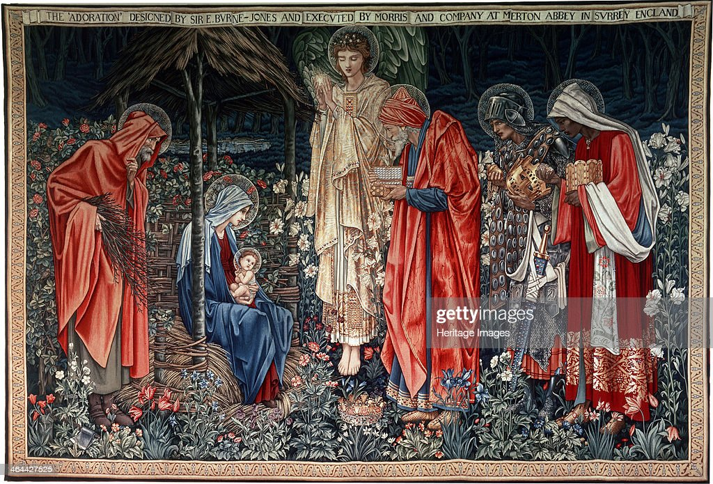 'The Adoration of the Magi', tapestry, 1890. Artist: Morris & Co : News Photo