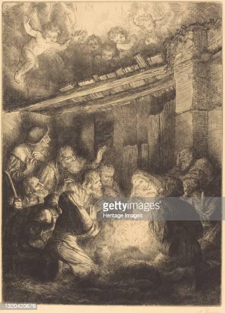 The Adoration of the Shepherds . Artist Alphonse Legros.
