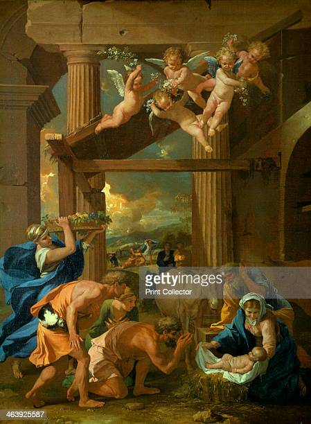 'The Adoration of the Shepherds' c1633 The shepherds come to adore newborn Jesus in the stable New Testament In the background the angel announces...