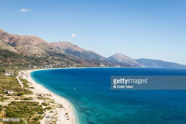 the adriatic coast in albania - albania stock-fotos und bilder