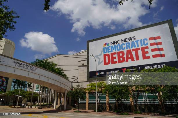 The Adrienne Arsht Center for the Performing Arts is seen where the first NBC Democratic presidential primary debates for the 2020 elections will...