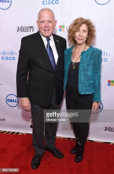 The Advanced Imaging Society President Jim Chabin and Google Spotlight Stories Executive Producer Karen DufilhoRosen attend the Advanced Imaging...