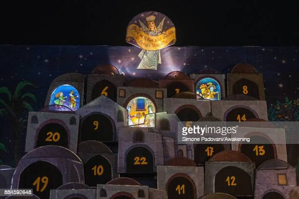 The advent calendar is seen on Piazza Castello on December 2 2017 in Turin Italy