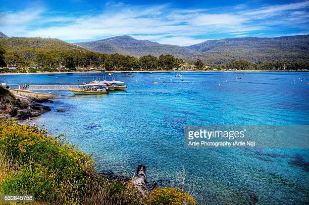 The Adventure Cruise Wharf in Bruny Island, Tasmania, Australia