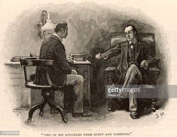 The Adventure of the Final Problem' Sherlock Holmes calling on Dr Watson to ask for his help to defeat his adversary Professor Moriarty 'the Napoleon...