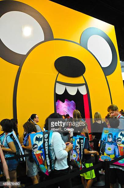 The Adventure Time booth on Preview Night ComicCon International 2014 held at the San Diego Convention Center on July 23 2014 in San Diego California