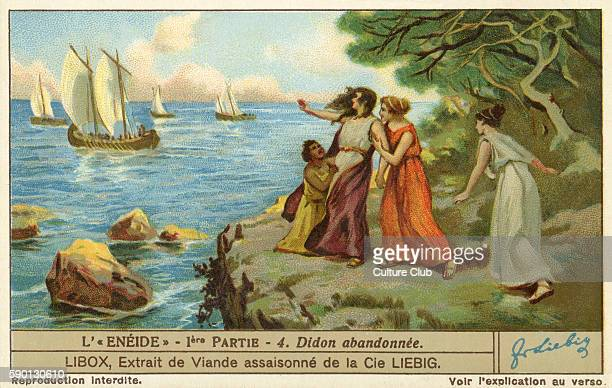 The Aenied epic poem by Virgil Aeneas abandons Dido Liebig collectors' card 1930