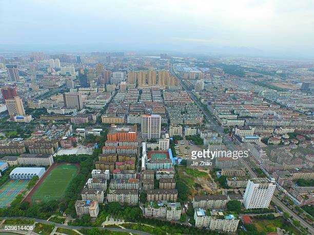 The aerial view of city landscape in Jinhua Zhejiang province east China on 5th June 2015