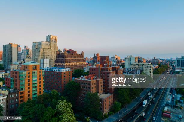 The aerial view of the Brooklyn Heights and Brooklyn-Queens Expressway