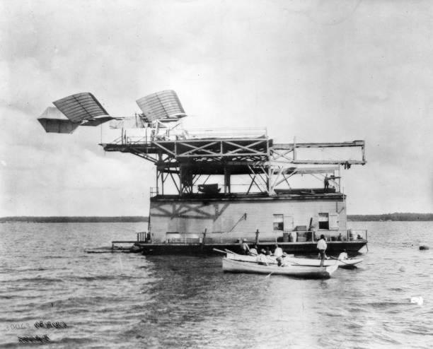 The 'Aerodrome', designed by Samuel Langley, ready...