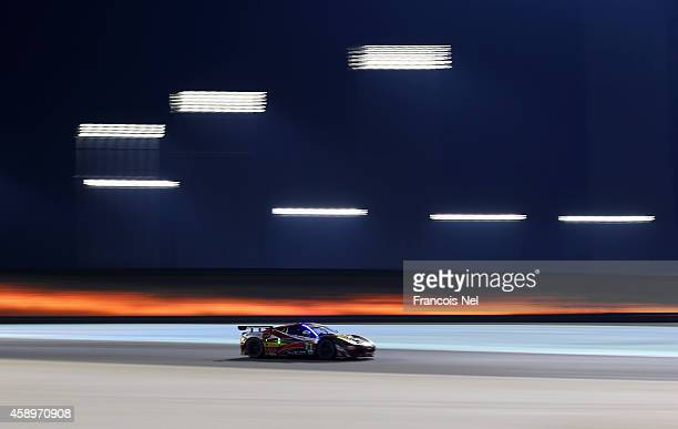 The AF Corse Ferrari F458 Italia driven by Davide Rigon of Italy and James Calado of Great Britain during qualifying for the FIA World Endurance...
