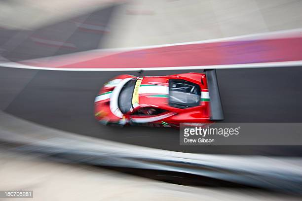 The AF Corse Ferrari F458 Italia driven by Giancarlo Fisichella of Italy and Gianmaria Bruni of Italy during the 2012 FIA World Endurance...