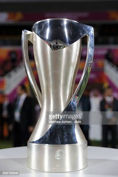 The AFC U23 Championship Final trophy during the AFC U23 Championship final match between South Korea and Japan at the Abdullah Bin Khalifa Stadium...