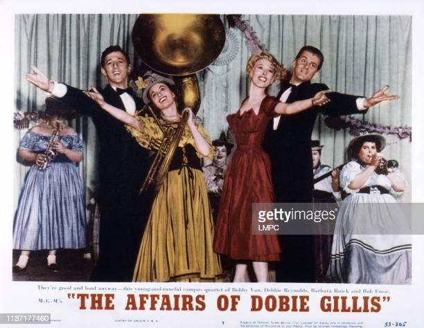 The Affairs Of Dobie Gillis US lobbycard from left Bobby Van Debbie Reynolds Barbara Ruick Bob Fosse 1953