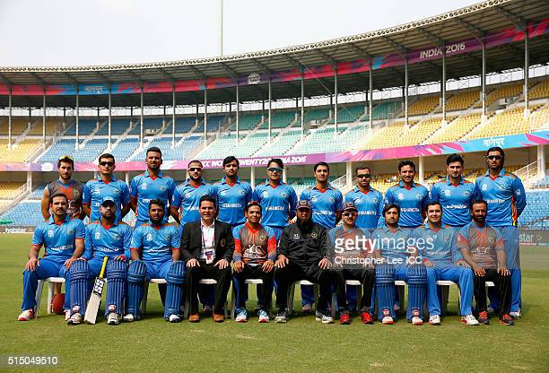 The Afghanistan Team photo during the ICC Twenty20 World Cup Round 1 Group B match between Zimbabwe and Afghanistan at the Vidarbha Cricket...