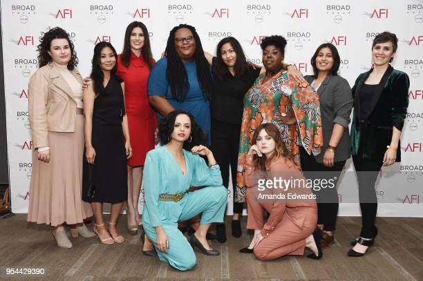 The AFI Directing Workshop for Women Manager Adrienne Childress filmmakers Georgia Fu Milena Govich Katrelle Kindred Beth de Araujo Tiffany Johnson...