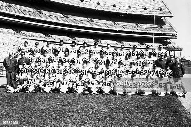The AFL Champion New York Jets of 1968 Front row Trainer Jeff Snedeker Karl Henke Jim Richards Mike D'Amato Harvey Nairn Randy Beverly Bill Laird...