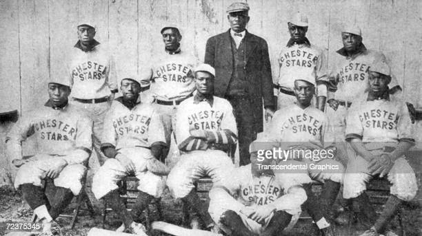 The African American Chester Stars Baseball Club poses for a team portrait during the 1911 season.