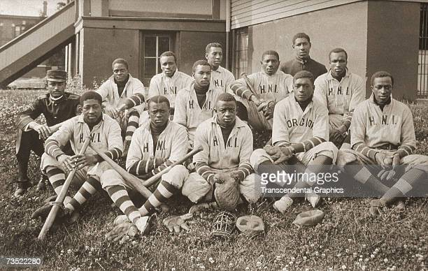 UNKNOWN C1905 The African American Horglow Negro Institute baseball team poses for a portrait aroung 1905